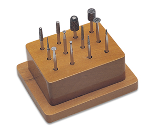 DIAMOND BUR SET IN WOOD STAND (12 PC)
