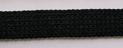 NYLON ROPE CHAIN - 10MM FLAT, BLACK