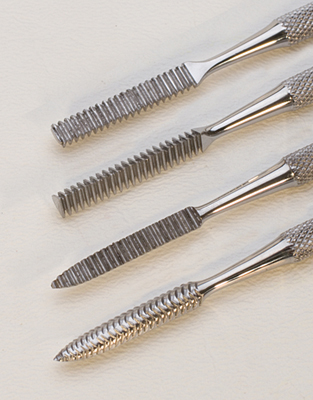 WAX CARVING FILE SET (SET OF 4)