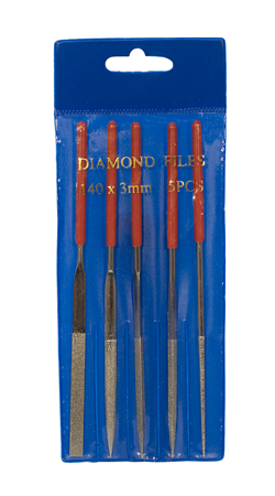 DIAMOND NEEDLE FILE SET - 5PC