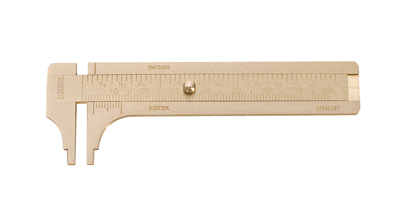 GERMAN BRASS SLIDING GAUGE- 80MM