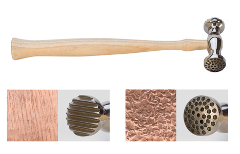 TEXTURING HAMMER-ROUND-DIMPLES & NARROW PINSTRIPE