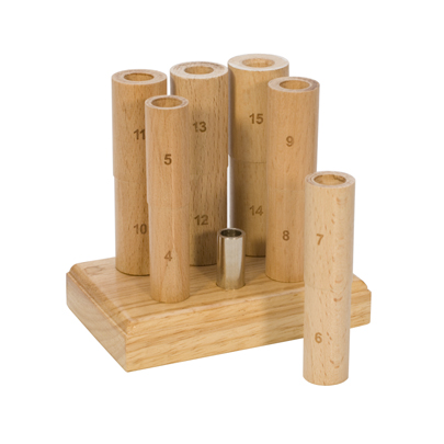 6PC WOOD MANDREL W/WOOD STAND - WHOLE SIZES