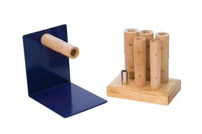 WOOD MULTIMANDREL ST with WHOLE SIZES 4-15, with WOOD STAND