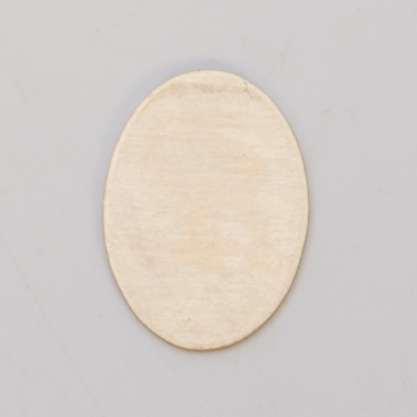 BRASS OVAL BLANK, 18MM X 13MM, 24 GA - 1 GR