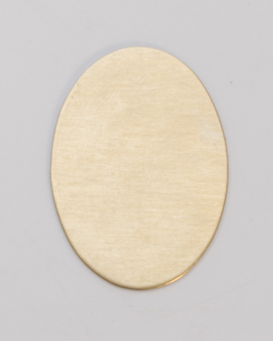 BRASS OVAL BLANK, 25MM X 18MM, 24 GA - 1 GR
