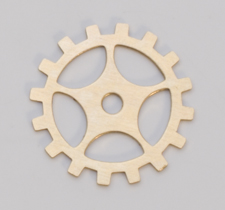 BRASS GEAR W/SPOKE BLANK, 24 GA - 1 GR