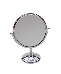 TWO-SIDED CHROME PLATED MIRROR