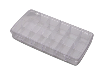 12 COMPARTMENT BOX W/LID 8-1/4