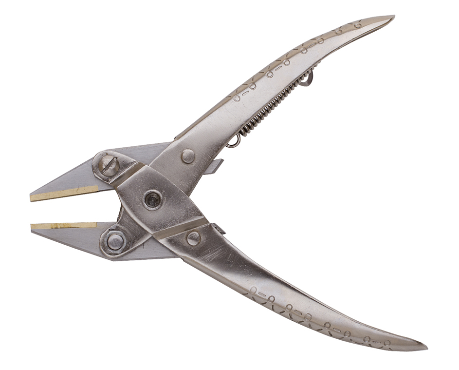 PARALLEL PLIER FLAT W/BRASS JAW