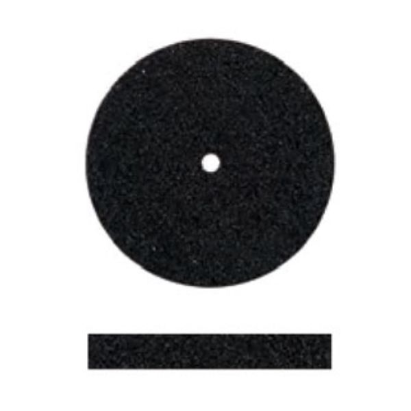 SILICONE POLISHERS UNMOUNTED - MEDIUM (BLACK) SQUARE EDGE WHEEL, PK/12