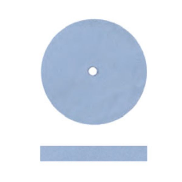 SILICONE POLISHERS UNMOUNTED - FINE (LIGHT BLUE) SQUARE EDGE WHEEL, PK/12