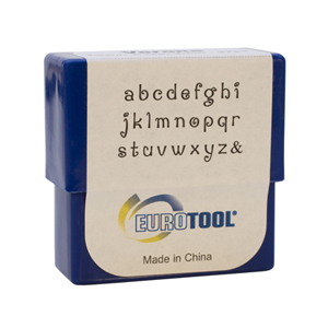 VERONA ALPHABET STAMP SET-2MM LOWER CASE