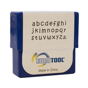 ARAS ALPHABET STAMPS SET - 2MM, LOWER CASE