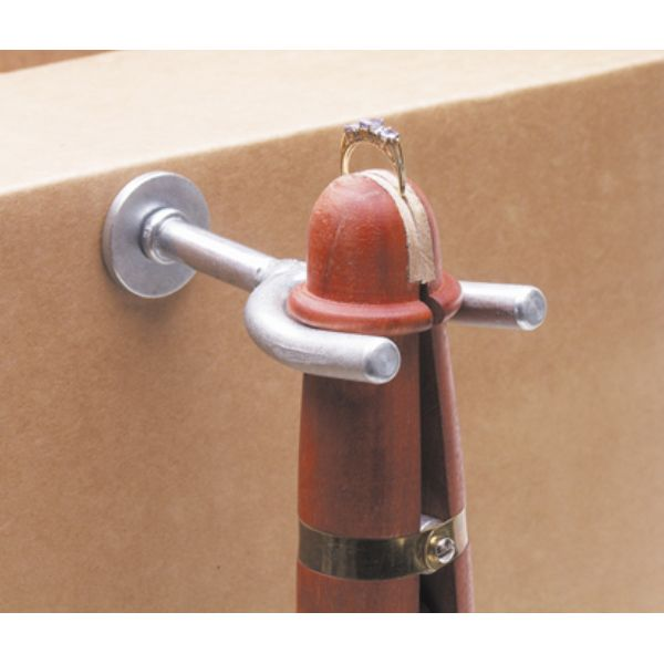 MAHOGANY RING CLAMP WITH METAL HOLDER