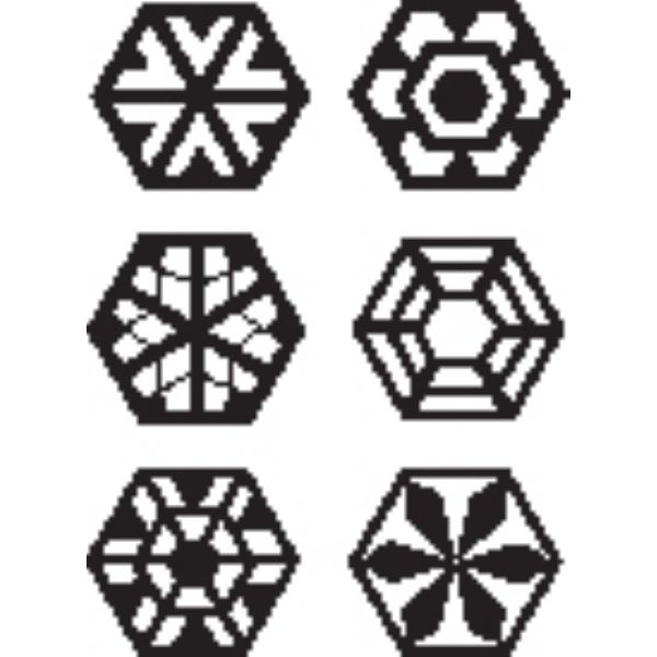 SMALL HEXAGON BLOCKS-SET/3