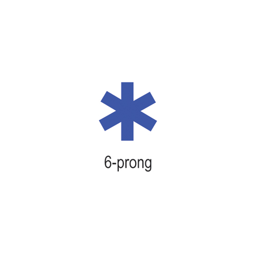 COWDERY 6-PRONG, 8MM X 0.75MM