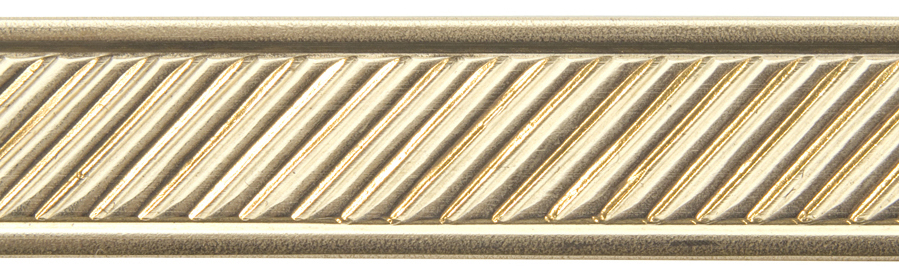SLANT WITH BORDER RED BRASS PATTERN WIRE, 3FT