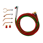 COMPACT TORCH KIT W/4 TIPS, ACET/PROP/MAPP