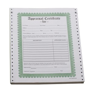 APPRAISAL FORMS - 100/BOX