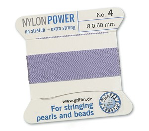 GRIFFIN NYLON BEAD CORD - LILAC, #4