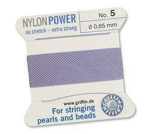 GRIFFIN NYLON BEAD CORD - LILAC, #5