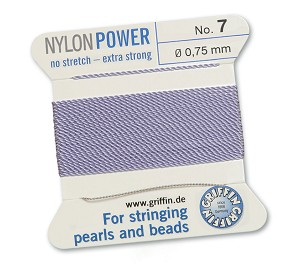 GRIFFIN NYLON BEAD CORD - LILAC, #7