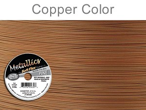 SOFT FLEX WIRE METALLIC - COPPER, .014, 100FT