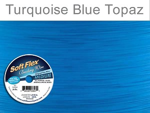 SOFT FLEX WIRE - TURQUOISE, .019, 30FT