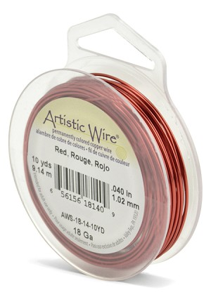 ARTISTIC WIRE SPOOL- 18 GAUGE - RED