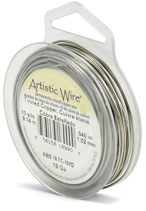 ARTISTIC WIRE SPOOL - 18 GAUGE - TINNED COPPER