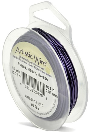 ARTISTIC WIRE SPOOL - 20 GAUGE - PURPLE