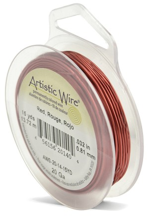 ARTISTIC WIRE SPOOL - 20 GAUGE - RED