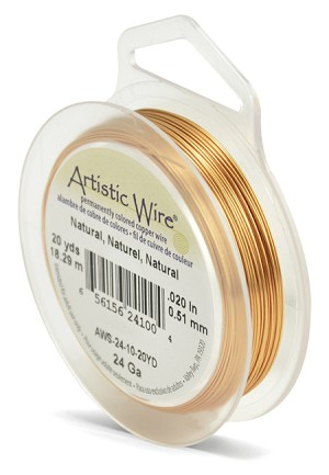 ARTISTIC WIRE SPOOL - 24 GAUGE - NATURAL