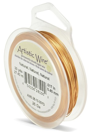 ARTISTIC WIRE SPOOL - 26 GAUGE - NATURAL