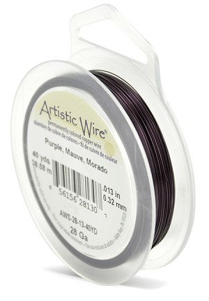 ARTISTIC WIRE SPOOL - 28 GAUGE - PURPLE