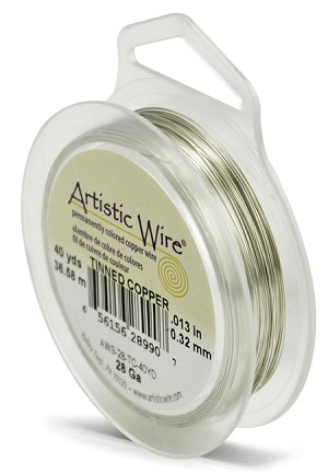 ARTISTIC WIRE SPOOL - 28 GAUGE - TINNED COPPER