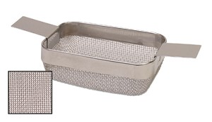 RECTANGULAR CLEANING BASKET - SMALL W/ EXTRA FINE MESH