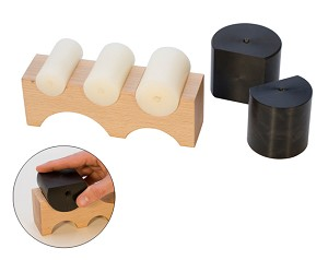 LARGE WOOD SHAPING BLOCK W/5 NYLON SHAPERS