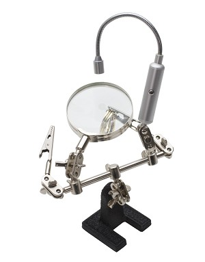 HELPING HAND MAGNIFIER W/FLEXIBLE LED LIGHT