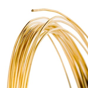 RED BRASS WIRE - ROUND DEAD SOFT, 12GA - 10FT