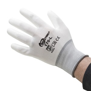 POLYURETHANE PALM COATED GLOVES - L - 12 PAIR